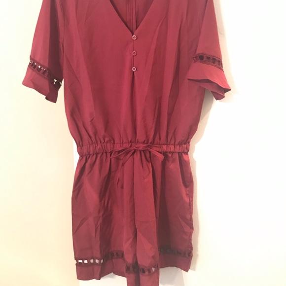 Dresses & Skirts - Romper. Brand new. Maroon. Never worn.